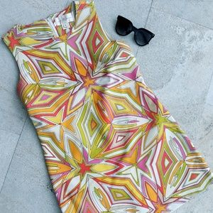 Julia Brown Geometric Dress NEW!